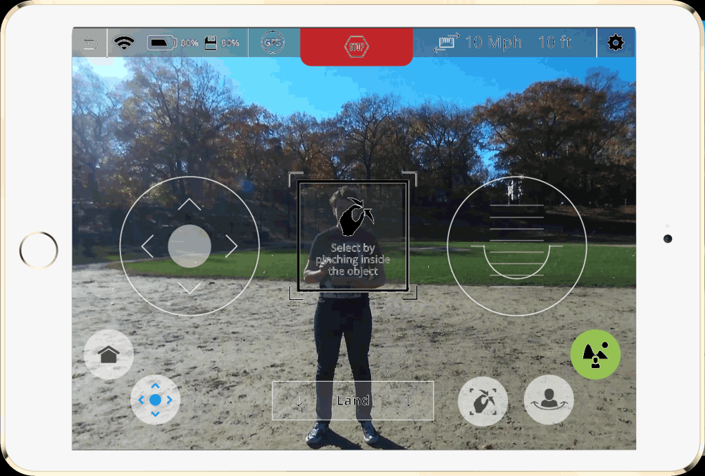 Neurala-Selfie-Dronie-Screen-Shot-In-Park The Neurala Selfie Dronie App Allows Autonomous Video Capture of Subject