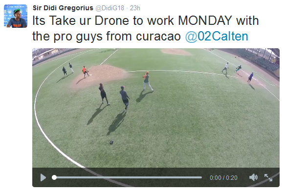 didi-gregorius Yankees' Shortstop Plays with 3DR Drone During Off-Season